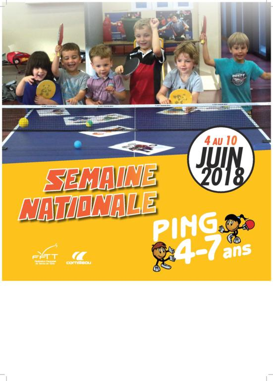 Semaine nationale du ping 4/7 ans