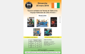 Tournoi solidaire de Tennis de Table
