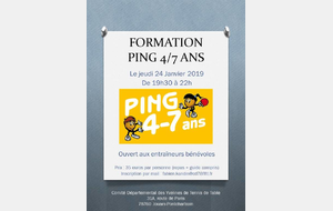Formation  Ping 4-7 ans